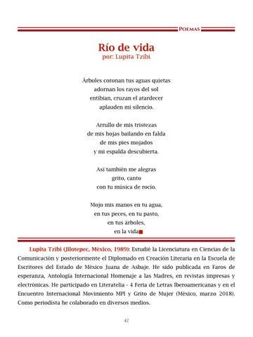 Page 43 of Río de vida, por Lupita Tzibi - Poemas