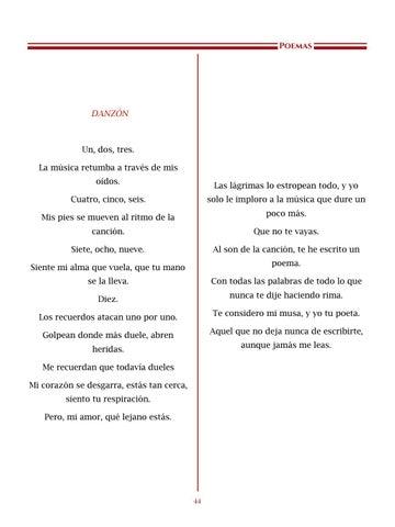 Page 45 of No te olvides, que yo no me olvido, por Ana Lorena Martínez Peña - Poemas