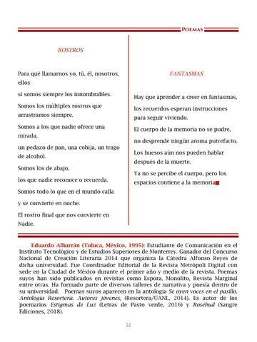 Page 53 of La serpiente se devora, por Eduardo Albarrán - Poemas