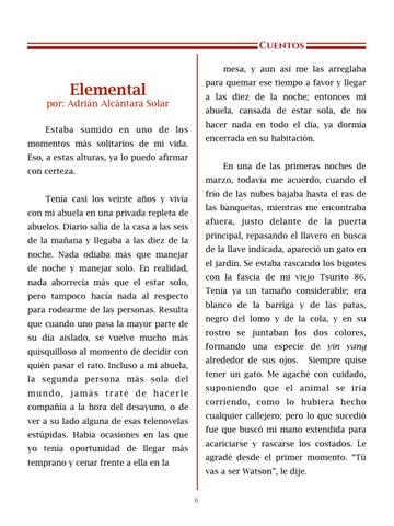 Page 7 of Elemental, por Adrián Alcántara - Cuentos