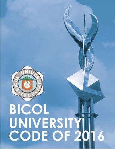 BU Code of 2016 by The Buzzette - Bicol University - issuu
