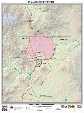 Klamathon Fire Public Information Fire Map 7 8 18 Pm Update By