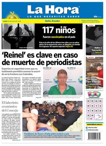 8b19a3162 Quito 09 de julio de 2018 by Diario La Hora Ecuador - issuu