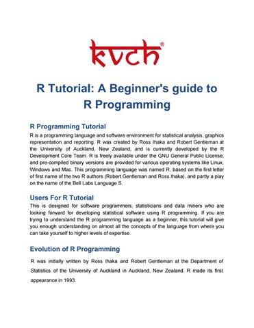 Best R Programming training in Noida by Sonia Sharma - issuu
