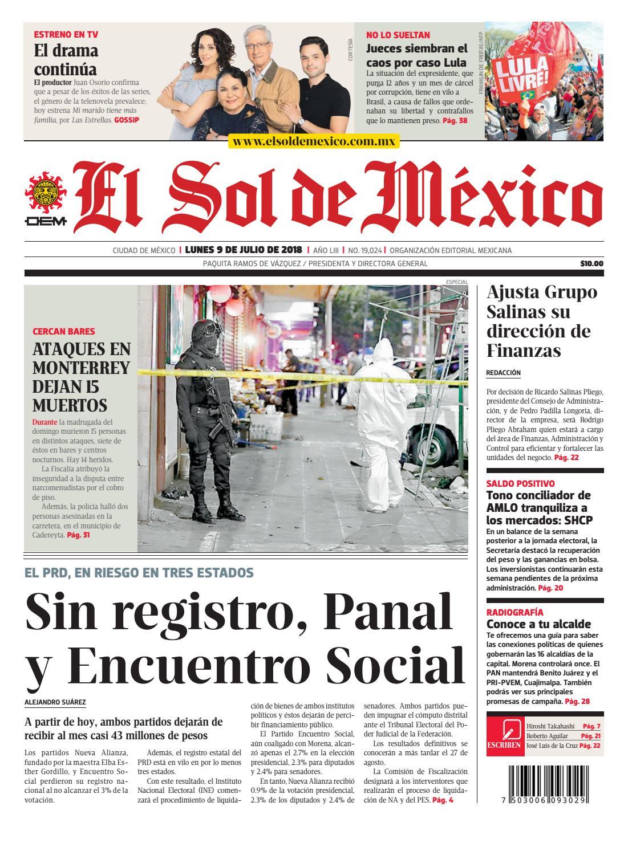 El Sol de México 9 de julio 2018 by El Sol de México - issuu bea5683dce5f