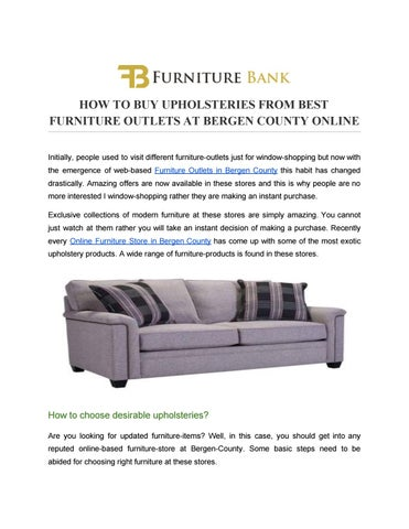 Wonderful HOW TO BUY UPHOLSTERIES FROM BEST FURNITURE OUTLETS AT BERGEN COUNTY ONLINE  Initially, People Used To Visit Different Furniture Outlets Just For ...
