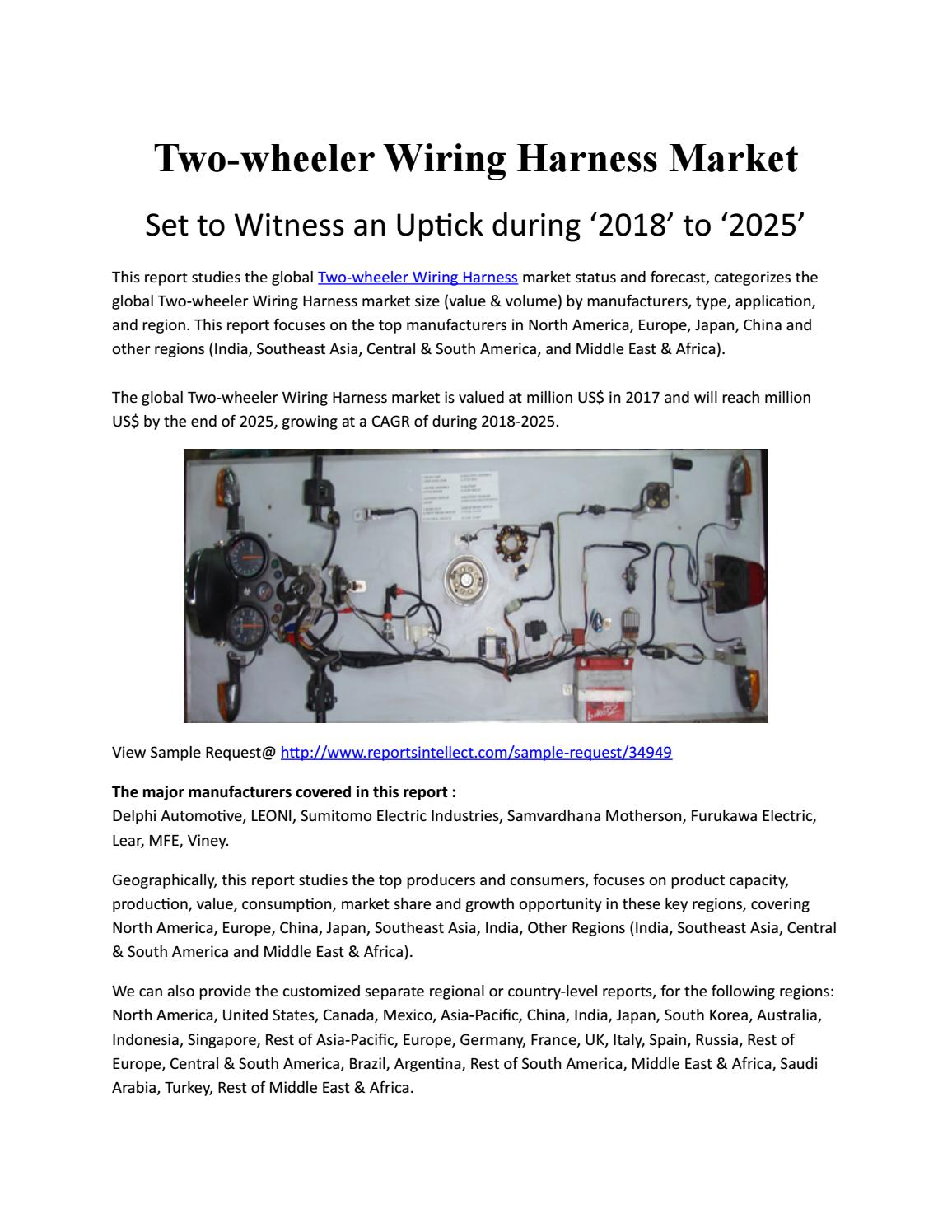 Two Wheeler Wiring Harness Market Estimated To Experience A Hike In Manufacturers Canada Growth By 2025 Shahid Madki Issuu