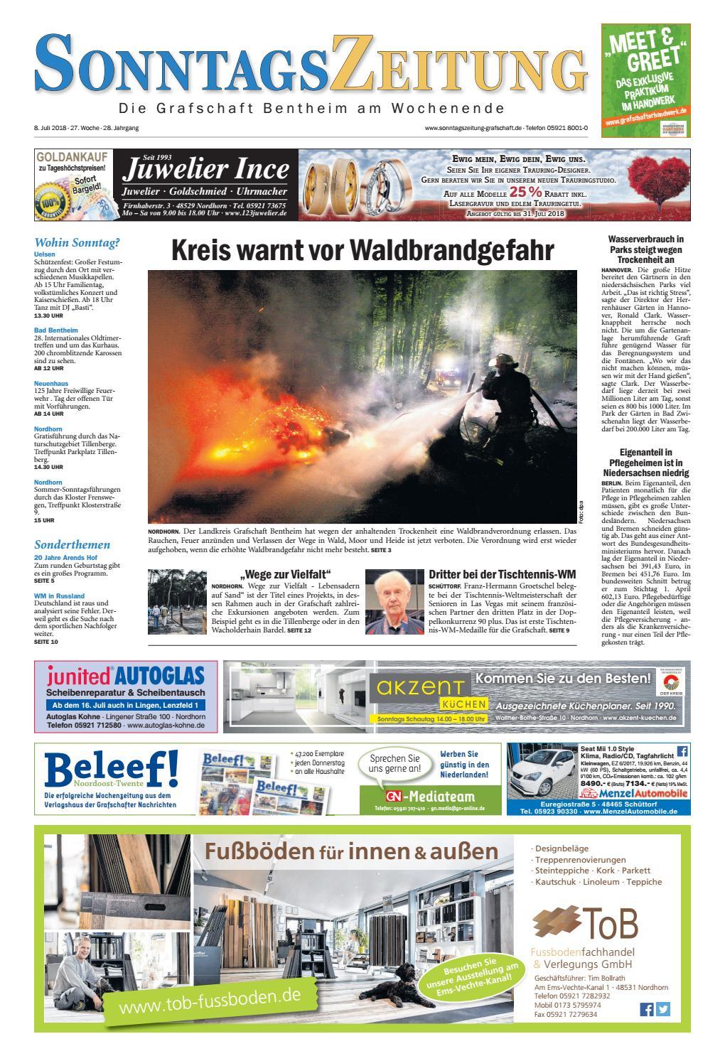 Sonntagszeitung08 07 2018 By Grafschafter Nachrichten Issuu