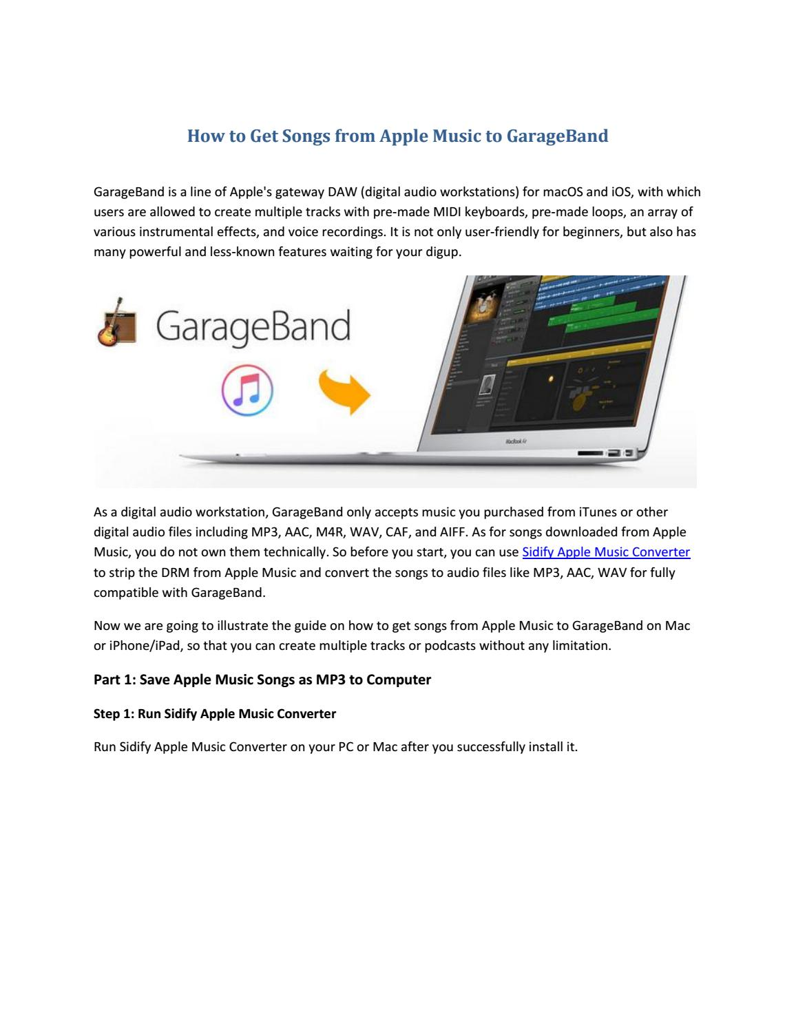 How to Get Songs from Apple Music to GarageBand by Paris