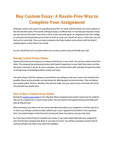 Custom Essays by Professional Essay Writers, Essay Writing Services