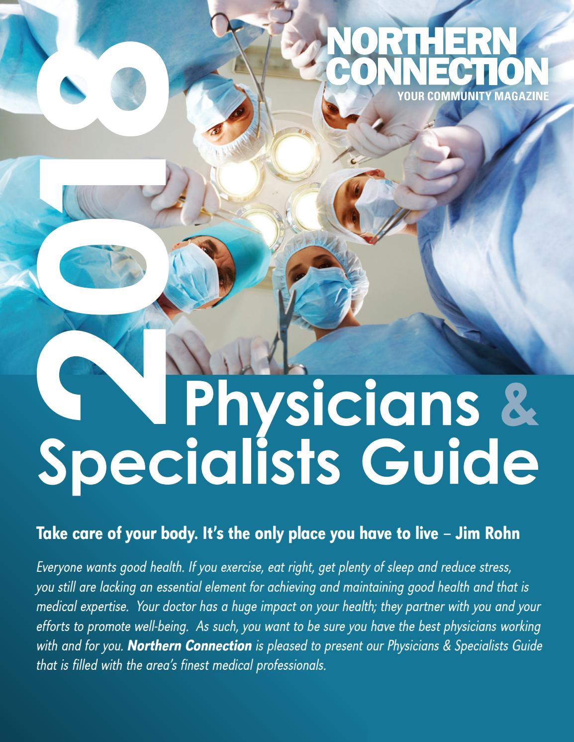 2018 Physicians & Specialists Guide by Northern Connection