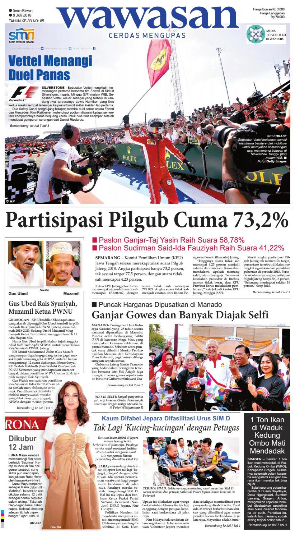 Wawasan 09 Juli 2018 By Koran Pagi Issuu Produk Ukm Bumn Batik Lengan Panjang Parang Toko Ngremboko