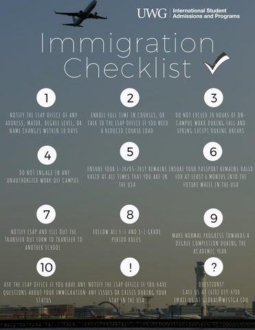 Immigration Rules by International Student Admissions & Programs - issuu