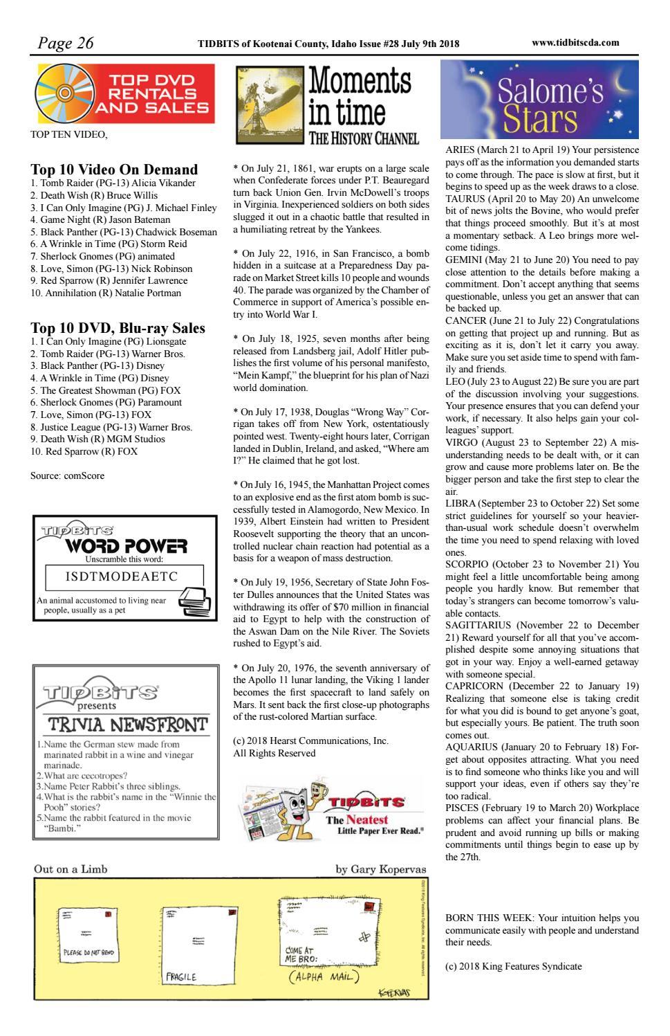 TIDBITS Issue 28 2018 CDA by TIDBITS Kootenai County, Idaho - issuu