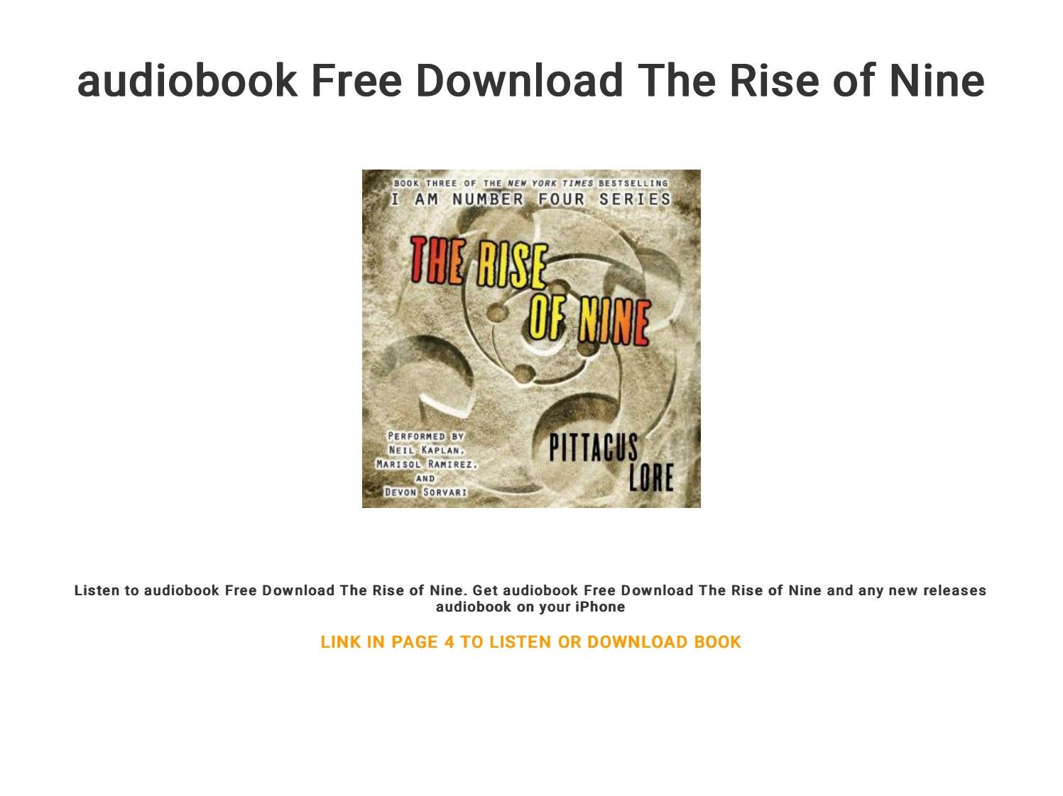 Audiobook Free Download The Rise Of Nine By Ebook 48 Issuu