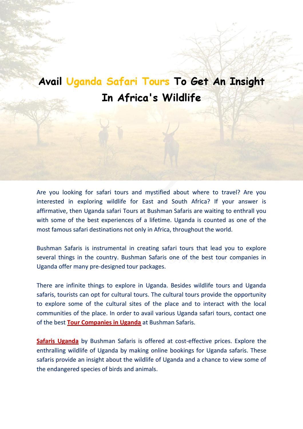 Adventure Tour Guide by Bushmen Safaris - issuu