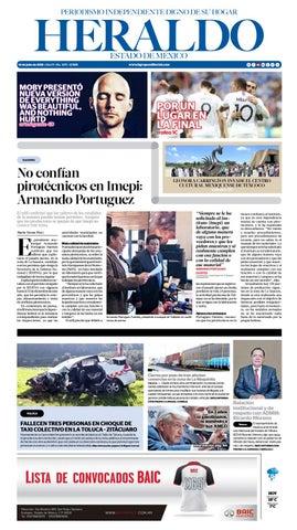 Martes 10 de Julio 2018 by Heraldo Estado de México - issuu 10471e6ab81