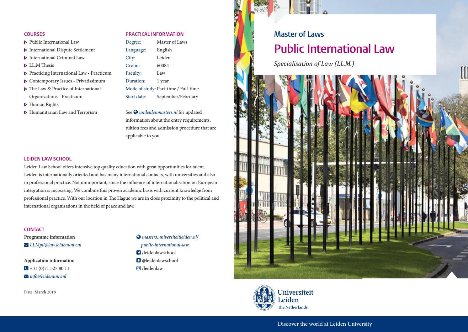 Public International Law Master By Leiden Law School Issuu