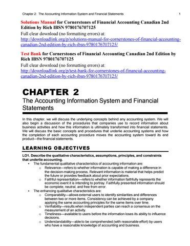 Cornerstones Of Financial Accounting 3rd Edition Pdf
