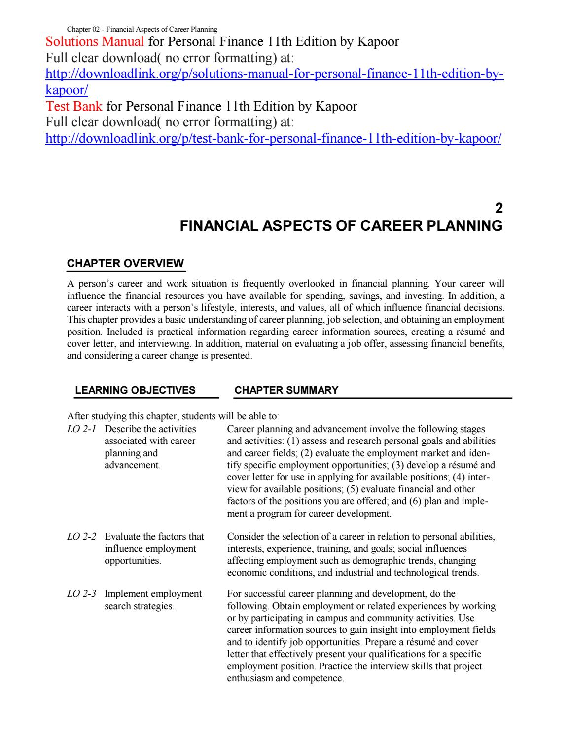 solutions manual for personal finance 11th edition by kapoor by rh issuu com UNDP Finance Manual See Finance Manual