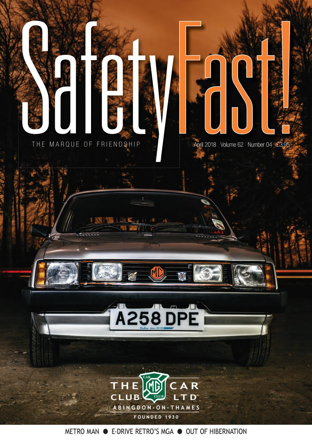 Safety Fast! April 2018 by MG Car Club - issuu