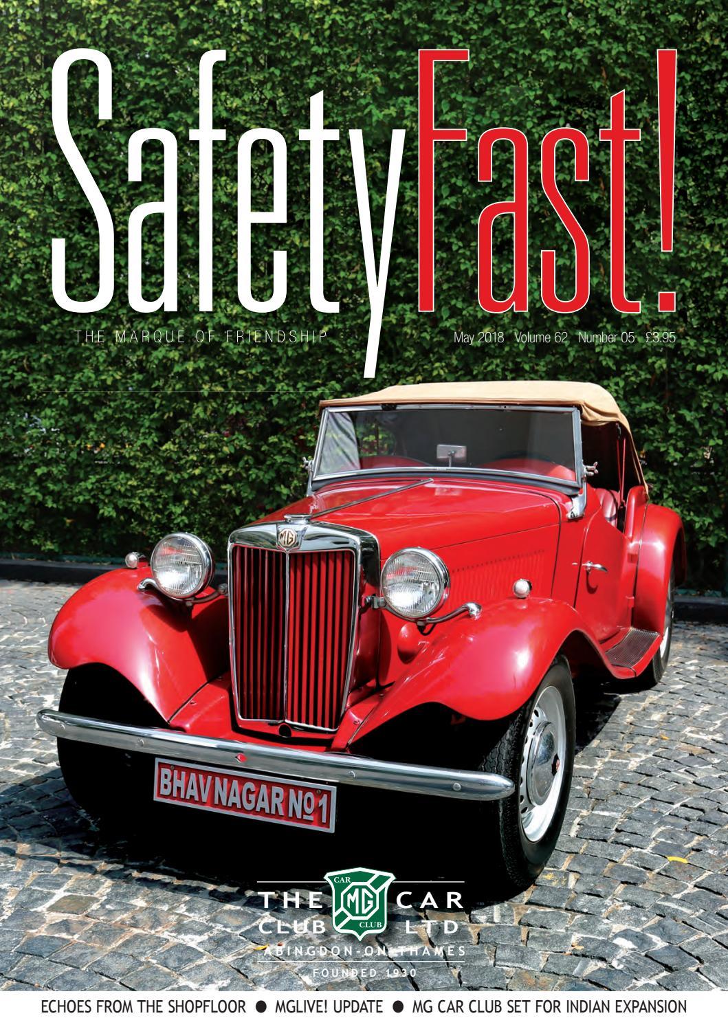 Safety Fast! May 2018 by MG Car Club - issuu