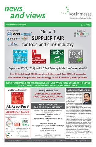 Food Logistics India | AnuTec - International FoodTec India | PackEx