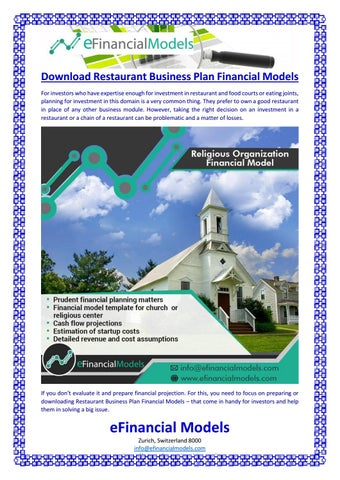 download restaurant business plan financial models by