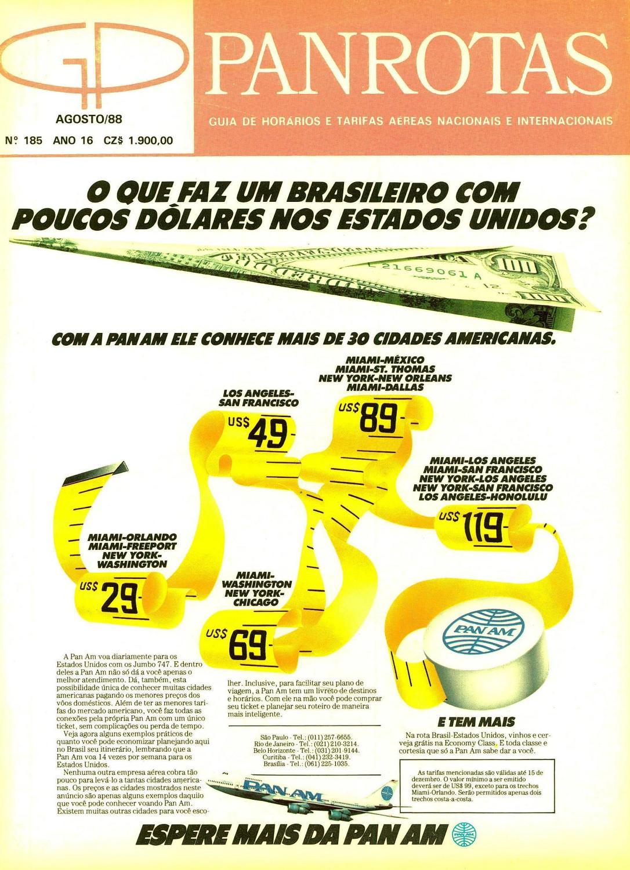 330641a54b Guia PANROTAS - Edição 185 - Agosto 1988 by PANROTAS Editora - issuu