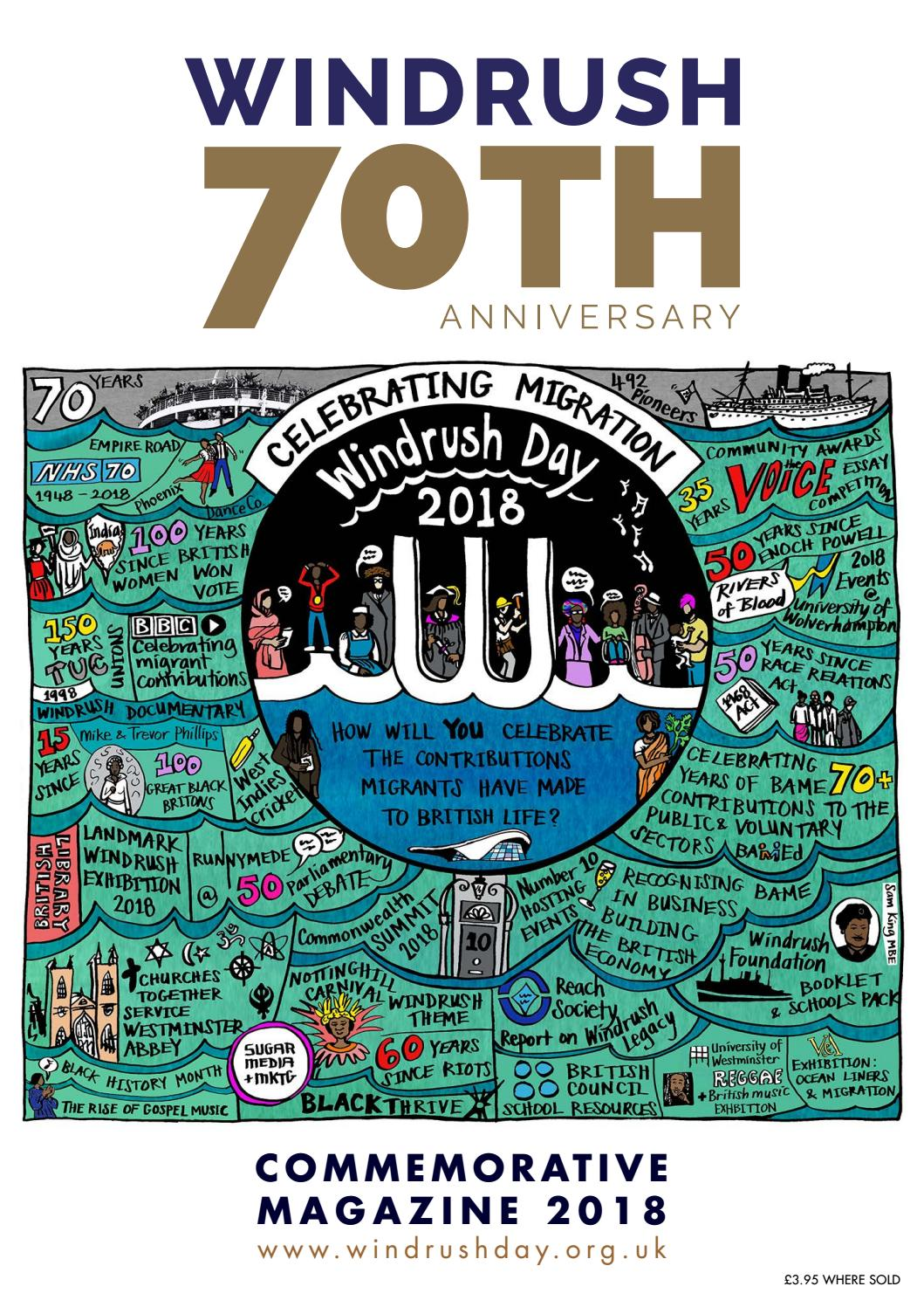 Windrush Commemorative magazine 2018 by Sugar Media and Marketing - issuu