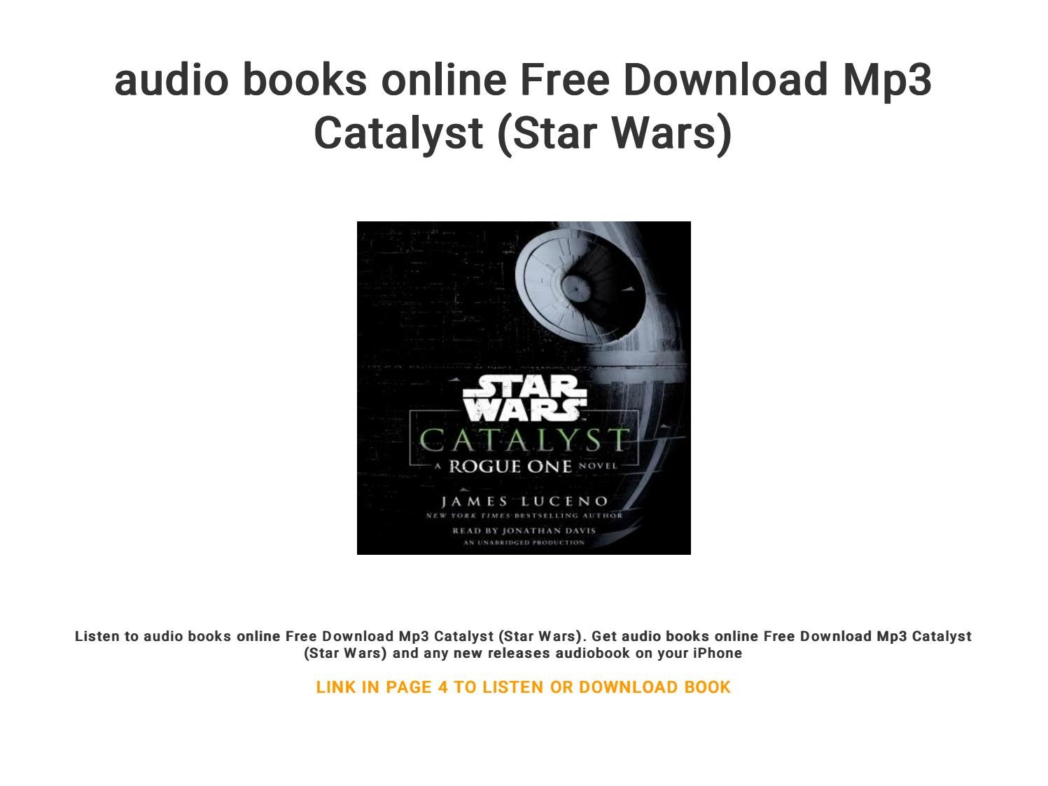 audio books online Free Download Mp3 Catalyst (Star Wars) by