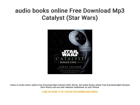 audio books online Free Download Mp3 Catalyst (Star Wars) by ebook