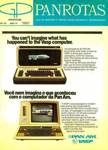 71ba2f5a5fb Guia PANROTAS - Edição 161 - Agosto 1986 by PANROTAS Editora - issuu