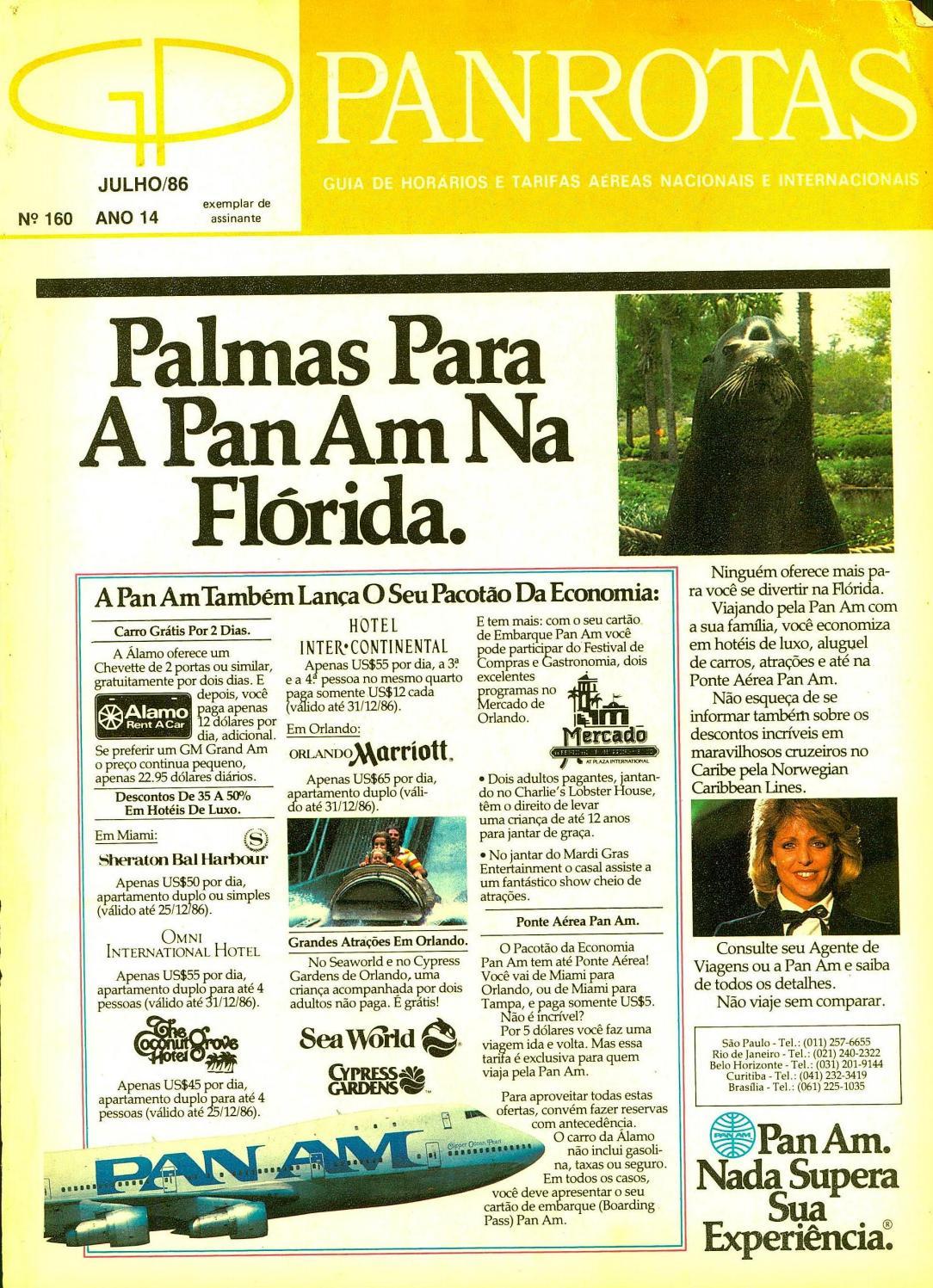 b6ca5f120 Guia PANROTAS - Edição 160 - Julho/1986 by PANROTAS Editora - issuu