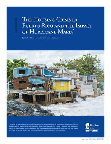 The Housing Crisis in Puerto Rico and the Impact of