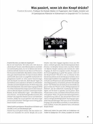 The State of Things   Der Dinge Stand by Theater der Zeit - issuu