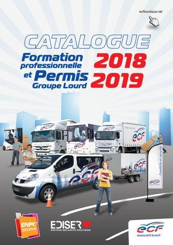 Catalogue FORMATION professionnelle et PERMIS Groupe Lourd