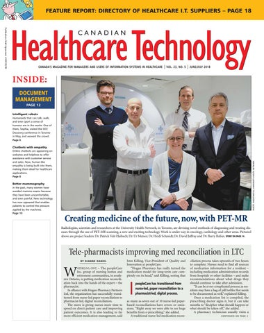 Canadian Healthcare Technology - July 2018 by Canadian