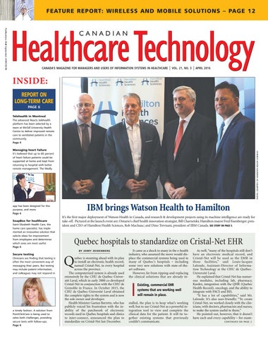 Canadian Healthcare Technology April 2016 By Canadian Healthcare