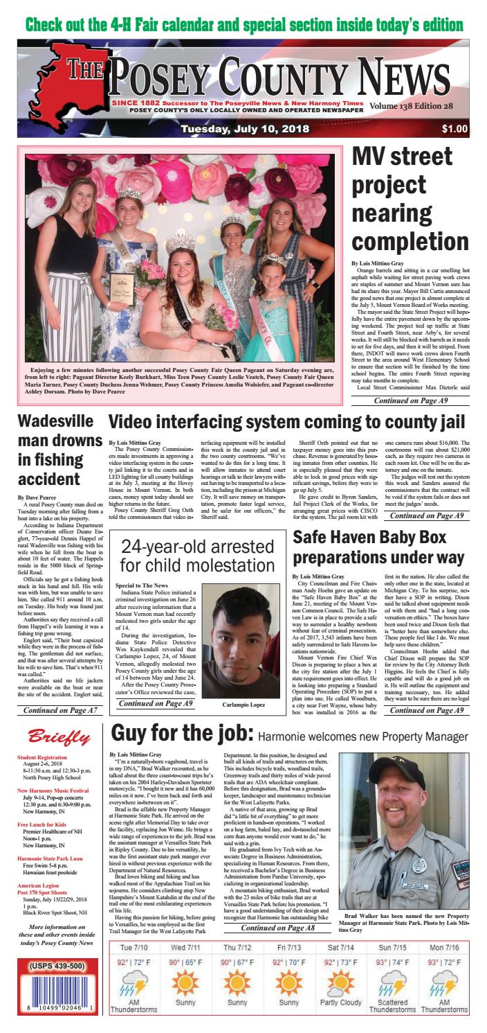 July 10 2018 The Posey County News By Issuu Mel Carr Electric Services Dryer Wiring