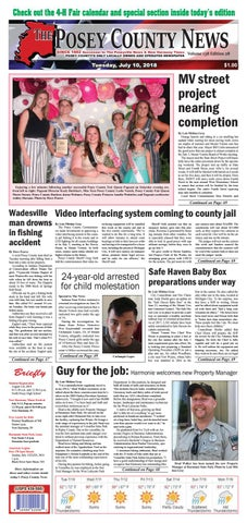 July 10 2018 The Posey County News By The Posey County News Issuu