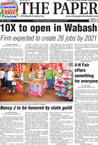 The Paper Of Wabash County July 11 2018 Issue By The Paper Of