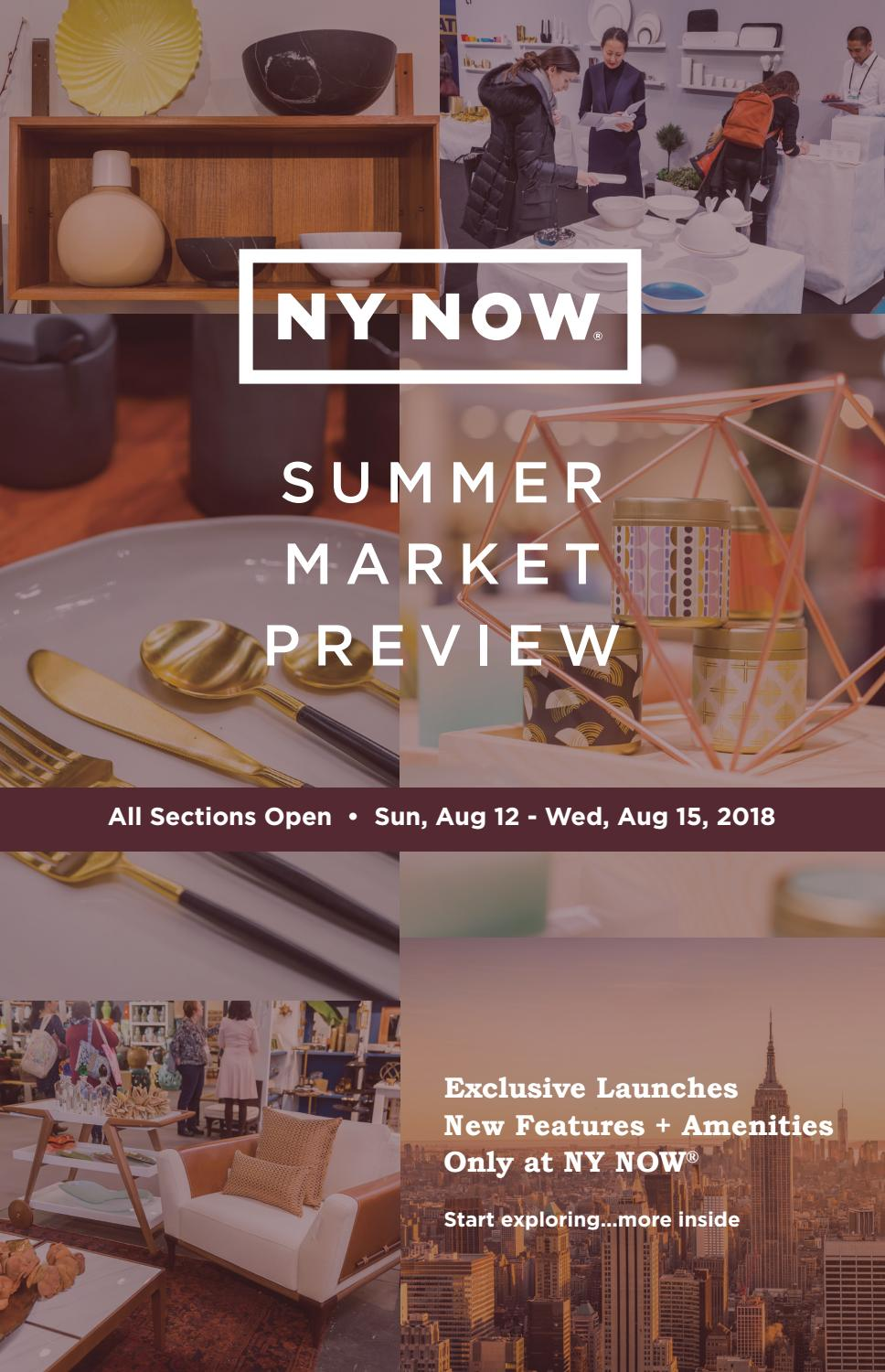 65d9d34a1b0 NY NOW Summer 2018 Preshow Planner by PubMan, Inc. - issuu
