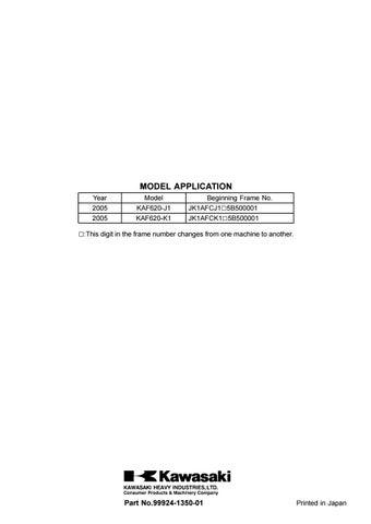 2005 KAWASAKI MULE 3010 TRANS 4×4 Service Repair Manual by