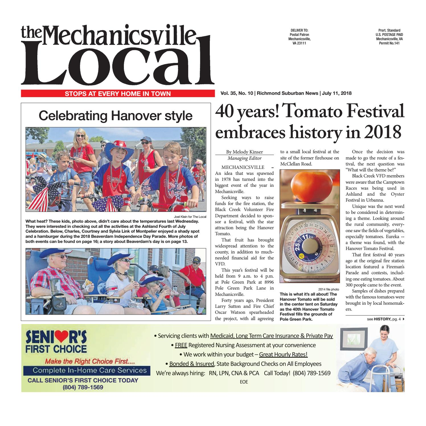 dede2c25 The Mechanicsville Local – 07/11/18 by The Mechanicsville Local - issuu