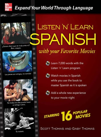 Listen  n  Learn Spanish with Your Favorite Movies by nppnc.mdy - issuu 1893aba654d4