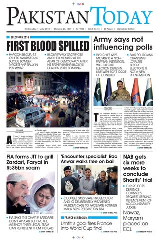 E-Paper PDF 11 July 2018 (ISB) by Pakistan Today - issuu
