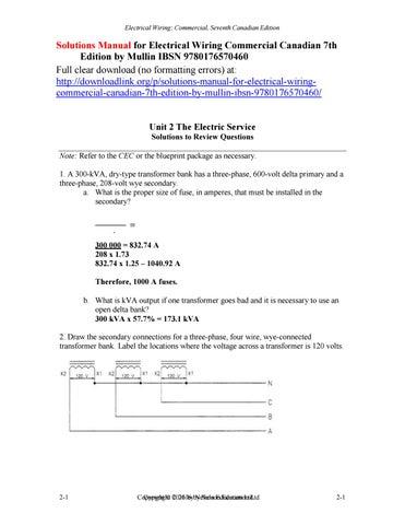 Pleasing Solutions Manual For Electrical Wiring Commercial Canadian 7Th Wiring Cloud Ratagdienstapotheekhoekschewaardnl