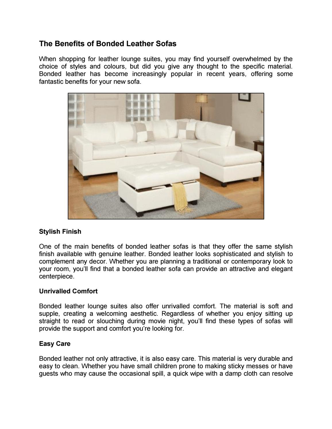 Excellent The Benefits Of Bonded Leather Sofas By Chaisesofas Issuu Evergreenethics Interior Chair Design Evergreenethicsorg