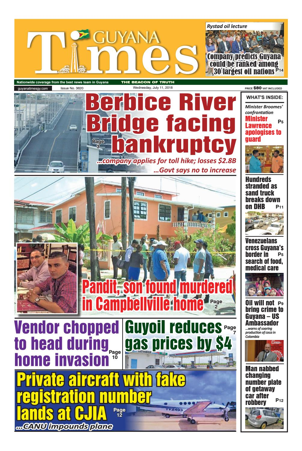 Guyana Times Wednesday, July 11, 2018 by Gytimes - issuu